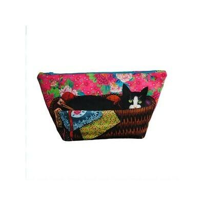 Velvet Sewing Bag Kit - Cat