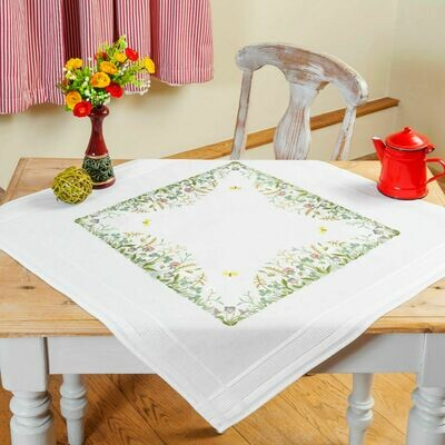 Duftin Floral Embroidery Table Cloth
