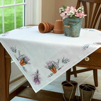 Duftin Lavender Cross Stitch Table Cloth