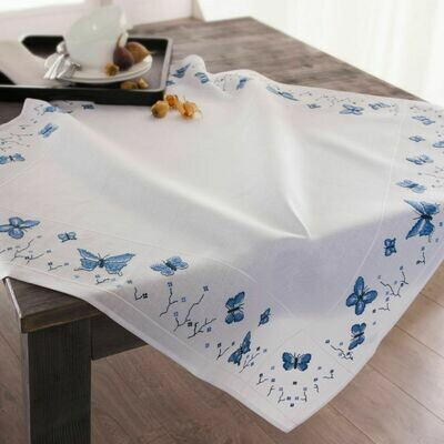 Duftin Butterfly Cross Stitch Table Cloth