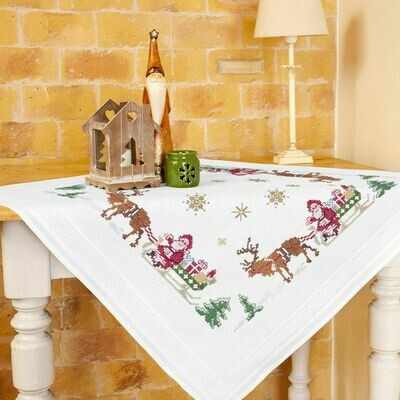 Duftin Christmas Cross Stitch Table Cloth