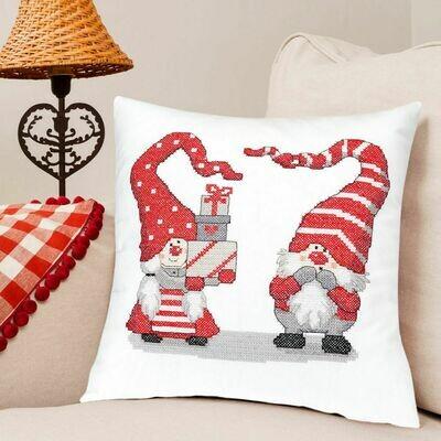 Duftin Christmas Cross Stitch Cushion Cover