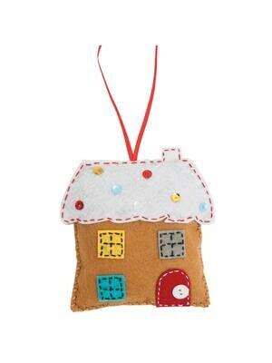 Make Your Own Felt Gingerbread House