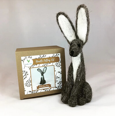 Grey Hare Felting Kit