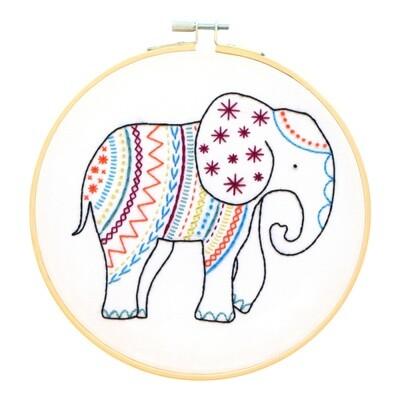 Elephant Embroidery Kit