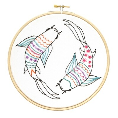 Koi Carp Embroidery Kit