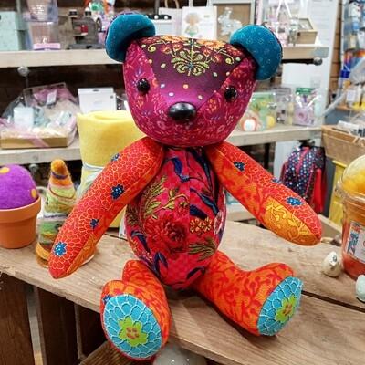 Velvet Teddy Kit - Embroidery