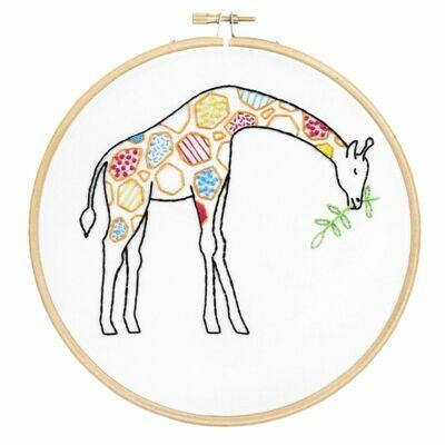 Giraffe Embroidery Kit