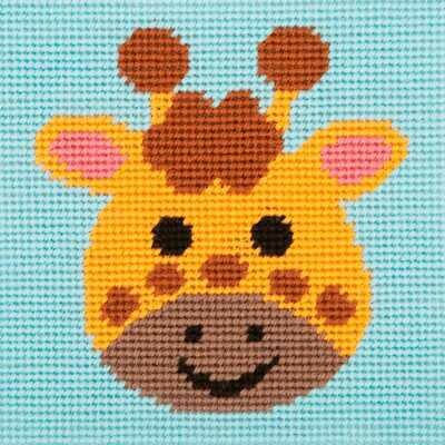 1st Kit - Needlepoint Tapestry Curious Giraffe