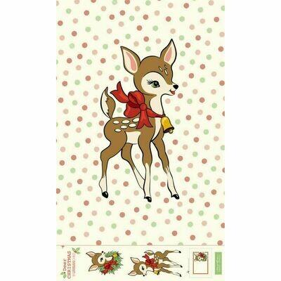 Deer Christmas - Quilt Panel