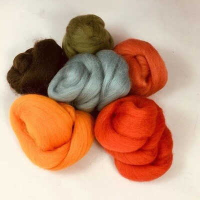 Autumn Forest Felting Wool Bundle