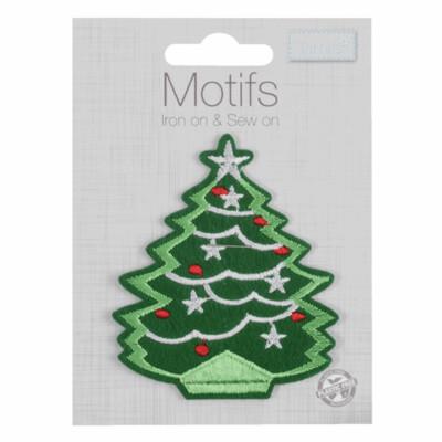 Christmas Tree Iron on & Sew on Motif