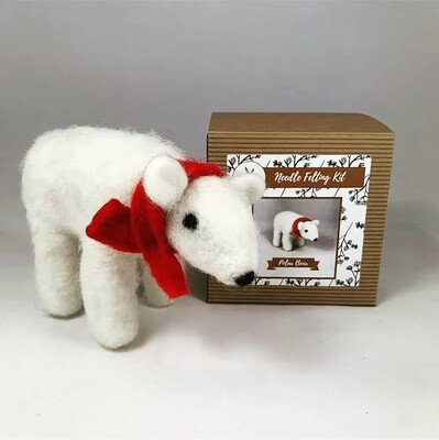 Polar Bear Felting Kit