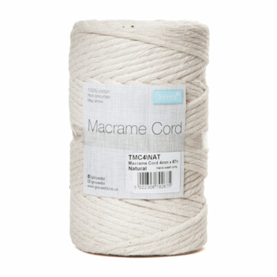 Macrame Cord 4mm: Natural