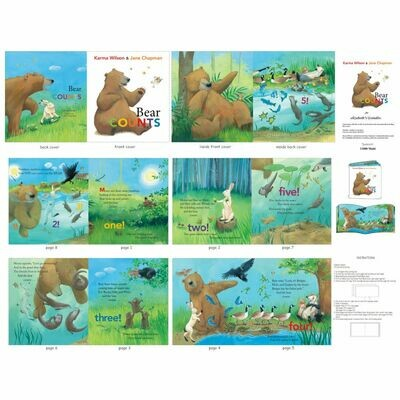 Bear Counts Book Panel