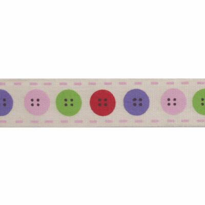 Natural Button Ribbon