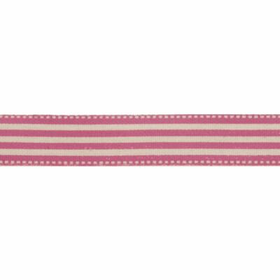 Natural Pink Stripe Ribbon