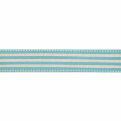 Natural Blue Stripe Ribbon