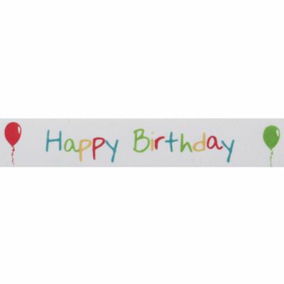 Satin Happy Birthday Ribbon