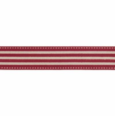 Natural Red Stripe Ribbon