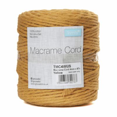 Macrame Cord 4mm: Mustard