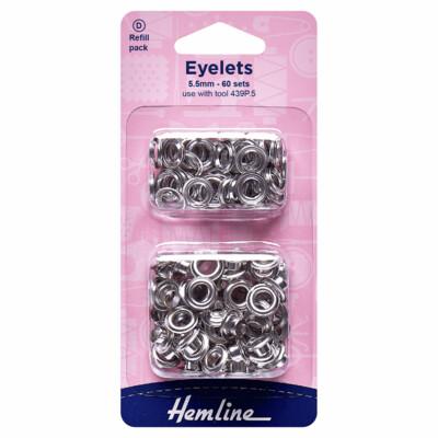 Silver Eyelets - 5.5mm