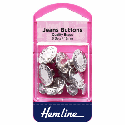 Jeans Buttons - Silver - 16mm