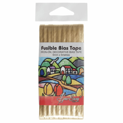Fusible Bias Tape - Gold