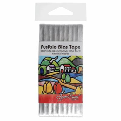 Fusible Bias Tape - Silver