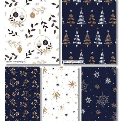 Metallic Christmas 21 - FQ Bundle