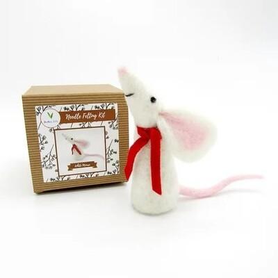 White Mouse Felting Kit