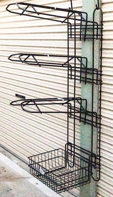 Portable/Permanent Tack Storage Main Frame w/3 x Saddle Rack Tiers & Storage Basket