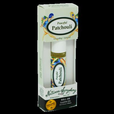 Peaceful Patchouli, Roller Ball, Blend Organic/Wildcraft - 10ml