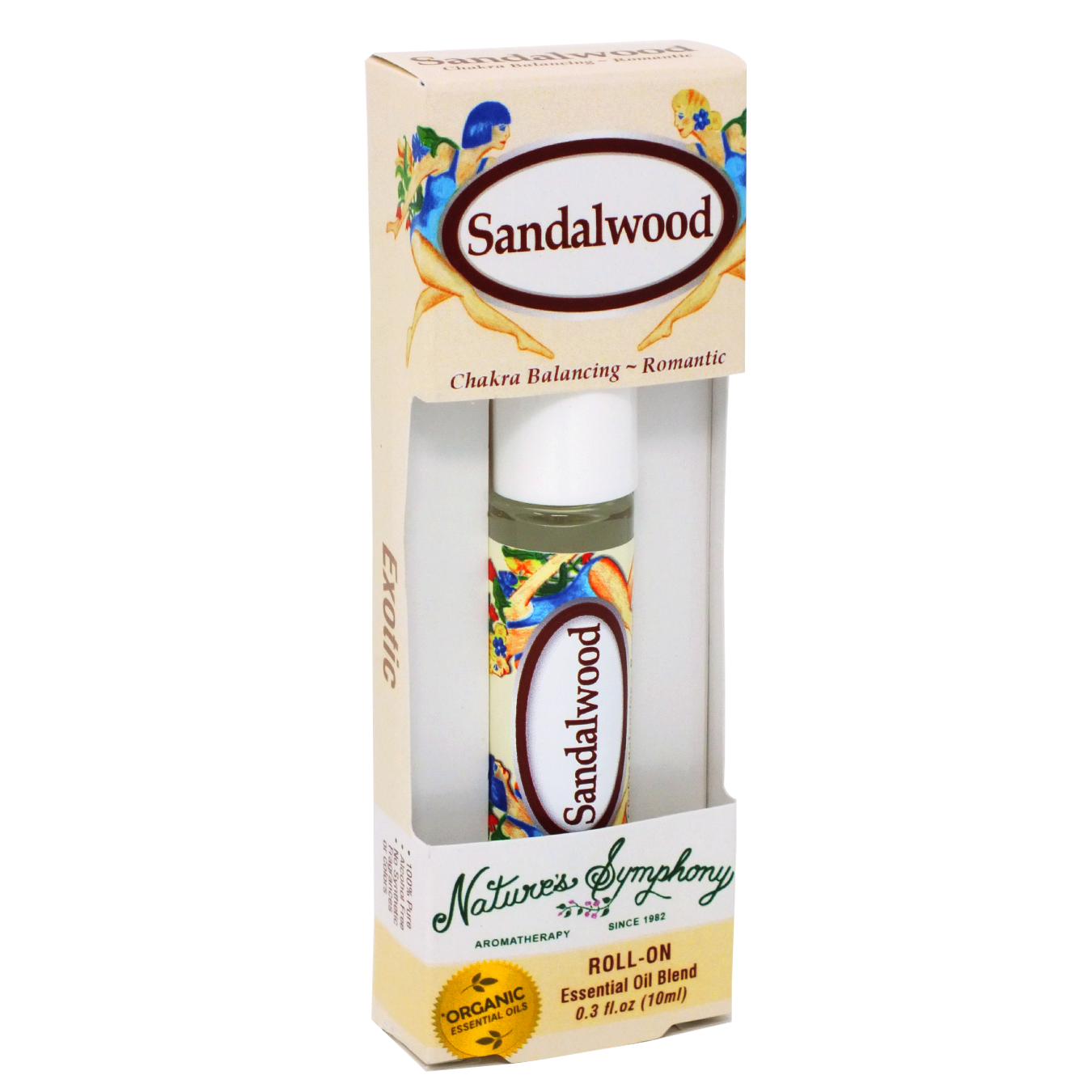Sandalwood, Roller Ball, Exotic Organic/Wildcrafted Fragrance - 10ml