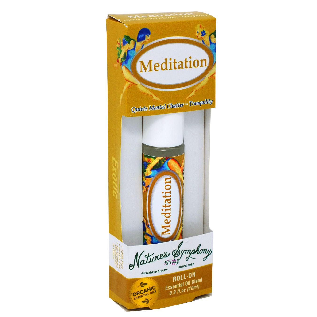 Meditation, Roller Ball, Exotic Organic/Wildcrafted Fragrance - 10ml