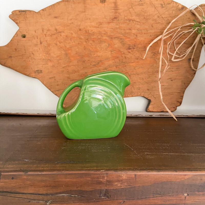 """Fiesta Green Creamer / Pitcher - Excellent Condition Approx. 3 1/2"""" By 3"""" Tall"""
