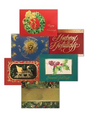FRG57002 Christmas Gold Foil Assortment