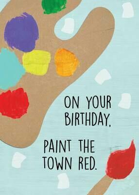 BLCard013   Blank Birthday Card