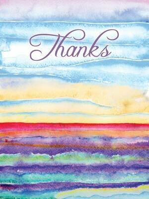 BLNote063   Blank Thank You Boxed Notecard