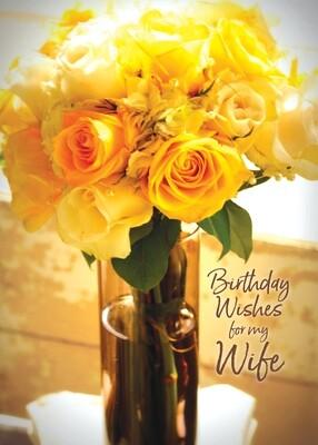 FR0348   Family Birthday Card / Wife