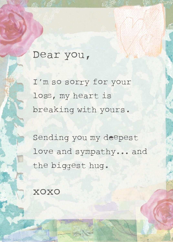 AFH297  Sympathy Card