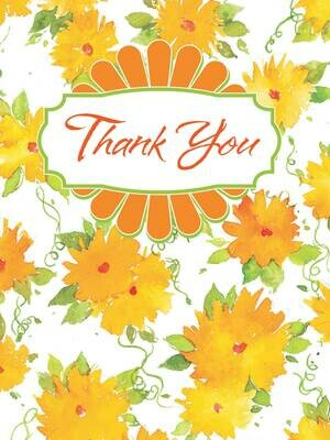 BLNote073   Blank Thank You Boxed Notecard