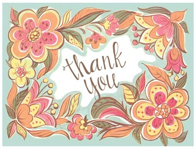BLNote066   Blank Thank You Boxed Notecard