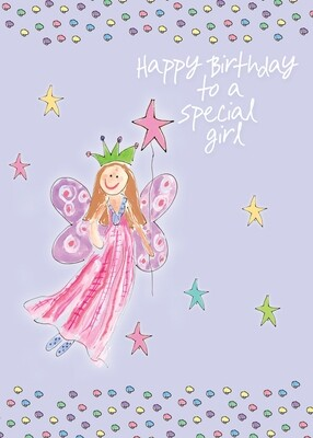 AFH211   Birthday Card / Juvenile Girl