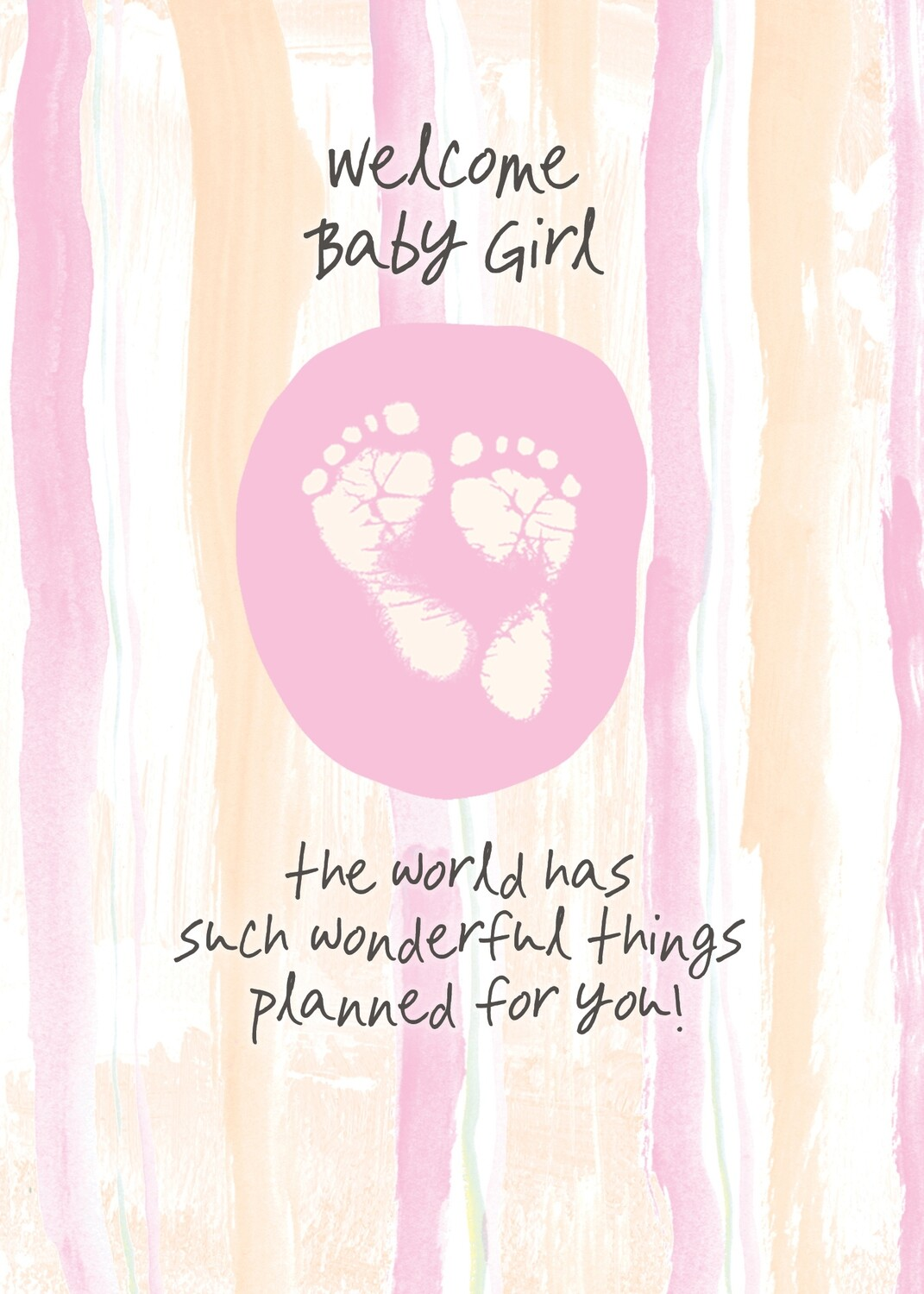 AFH043   Baby Girl Card