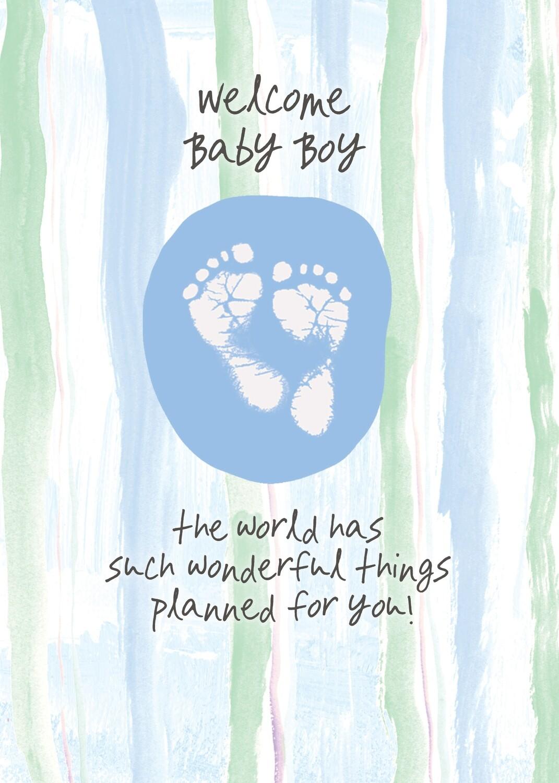 AFH044   Baby Boy Card