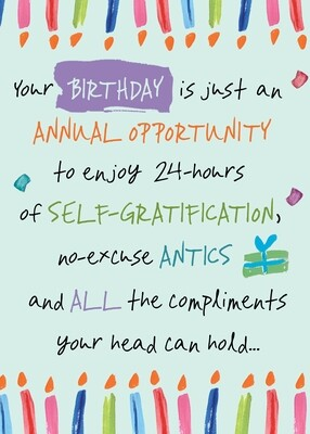 AFH007   Birthday Card
