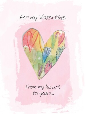 VAFH040oversize   Valentine's Day Card