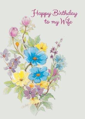 FR0301   Family Birthday Card / Wife