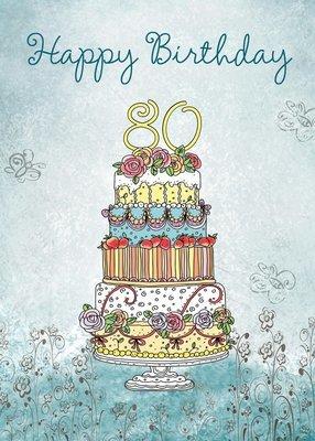 FR8406   Milestone Birthday Card / 80